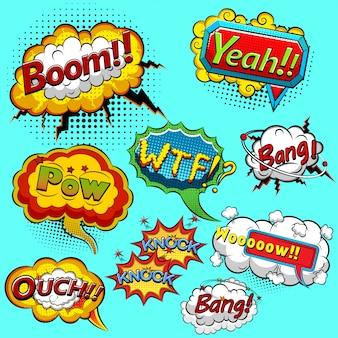 Bolhas do discurso em quadrinhos. ilustração