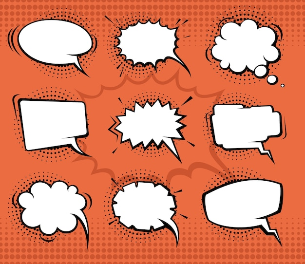 Bolhas do discurso em quadrinhos