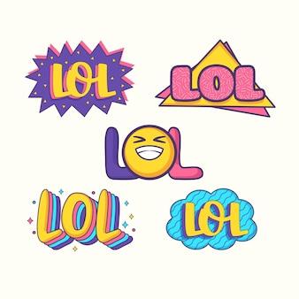 Bolhas engraçadas do bate-papo e etiquetas do lol