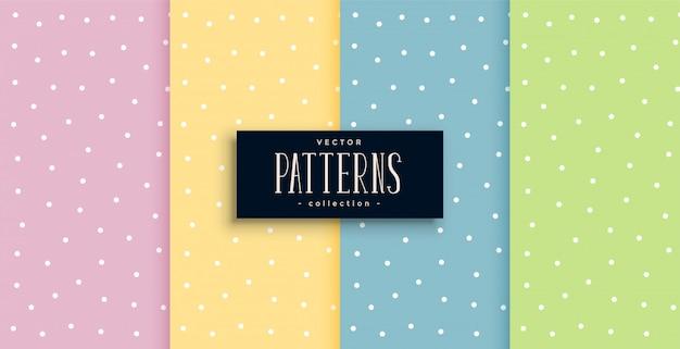 Bolinhas bonitos pequenos padrões definidos em tons pastel