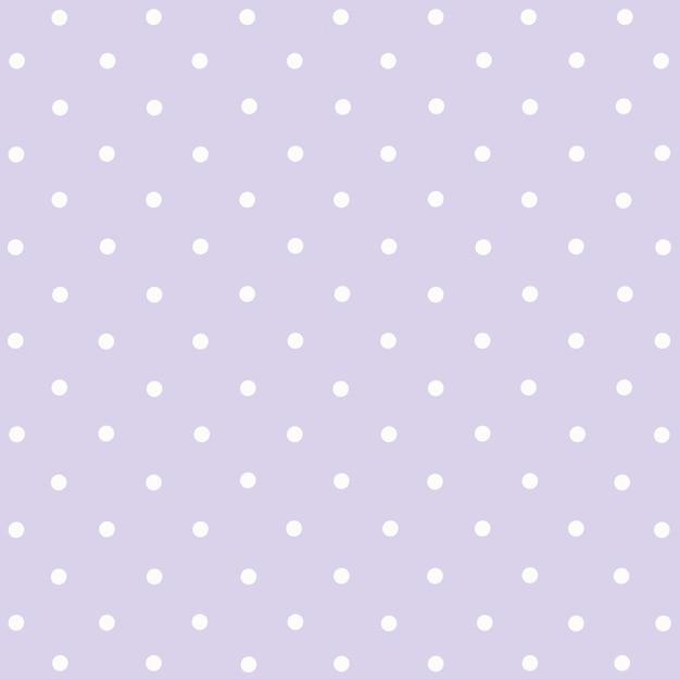 Bolinhas brancas em roxo