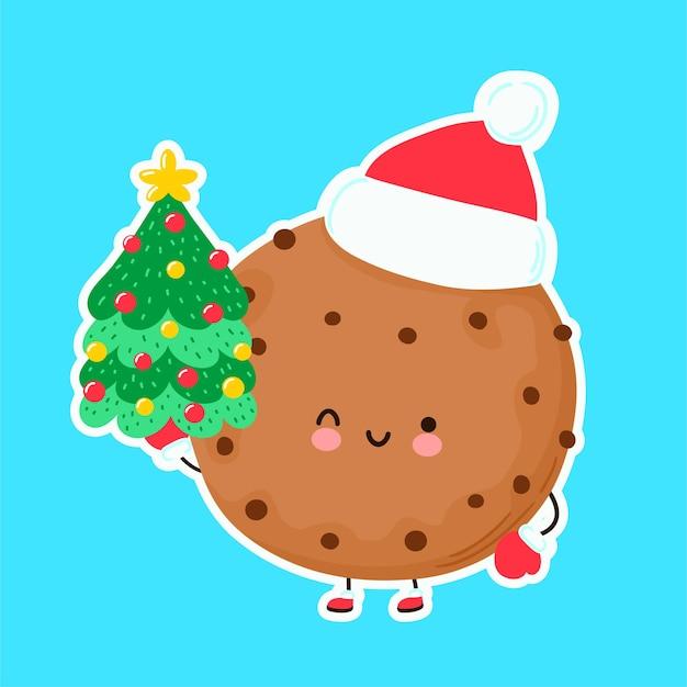 Bolinho fofo de feliz natal engraçado