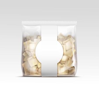 Bolinhos de massa de carne pelmeni ravioli packaging