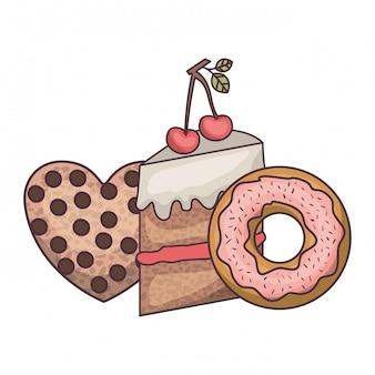 Bolinhos de padaria e biscoitos deliciosos