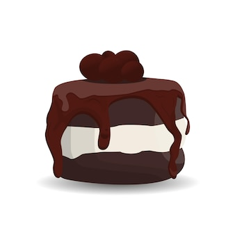 Bolo com bisquits de chocolate e trufas