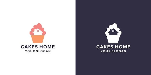 Bolo com design de logotipo para casa