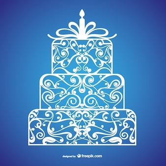 Bolo de aniversário caligráfico
