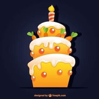 Bolo de aniversário com cenouras