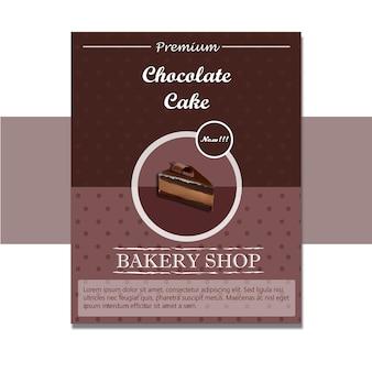 Bolo de chocolate flyer