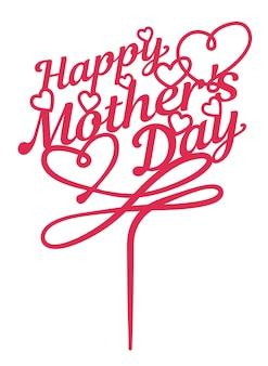 Bolo de coco feliz do dia das mães