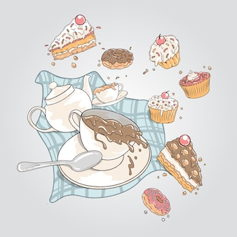 Bolos e donuts