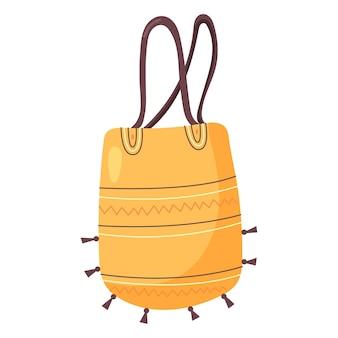 Bolsa de praia amarela