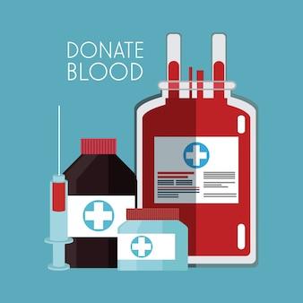 Bolsa de sangue doar campanha