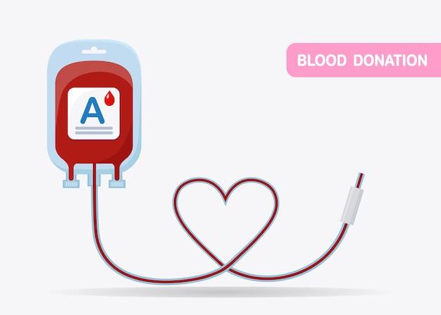 Bolsa de sangue isolada no fundo branco. doação, transfusão no conceito de laboratório de medicina.