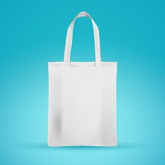 Bolsa de tecido branco realista