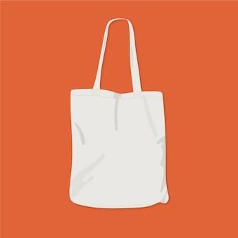 Bolsa de tecido plano ilustrada