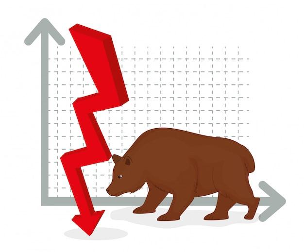 Bolsa de valores de negócios.
