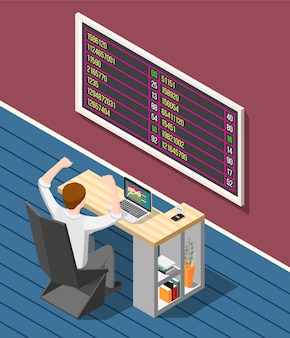 Bolsa de valores isométrica