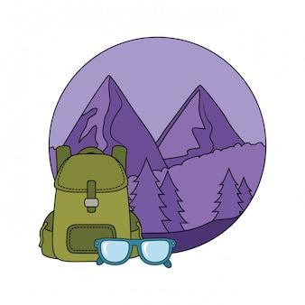 Bolsa de viagem acampar com óculos