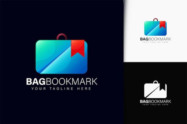Bolsa e design de logotipo de marcador com gradiente