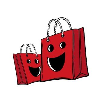 Bolsa preta de compras sexta-feira