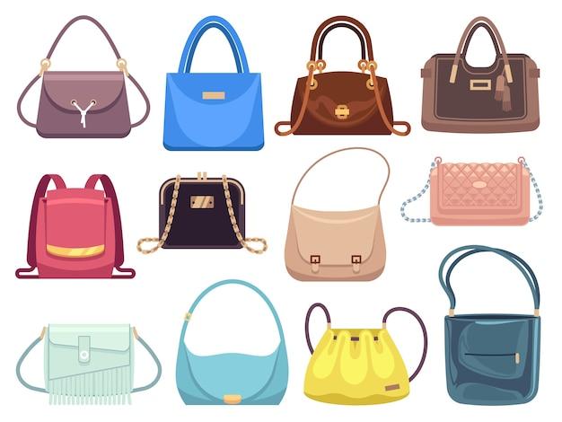 Bolsas femininas. bolsas femininas com acessórios de moda.
