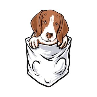 Bolso de cachorro engraçado