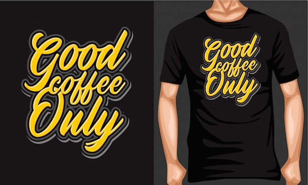 Bom café apenas letras tipografia