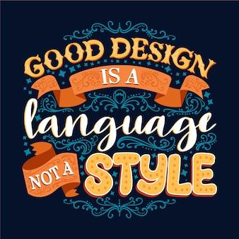 Bom design é uma linguagem famosa letras