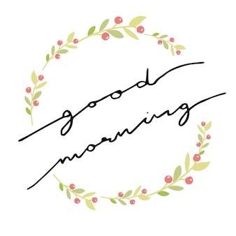 Bom dia caligrafia