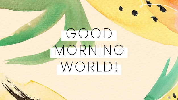 Bom dia design de ilustração mundial