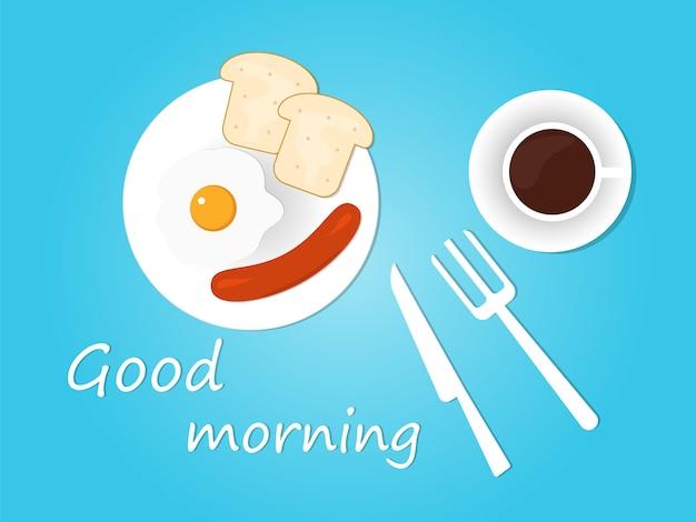 Bom dia, fundo de café da manhã