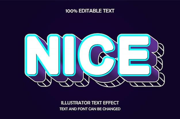 Bom, efeito de texto editável em 3d estilo moderno e fofo