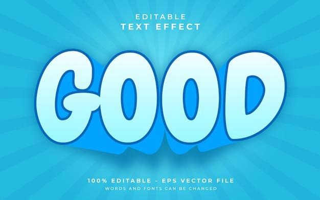 Bom efeito de texto editável