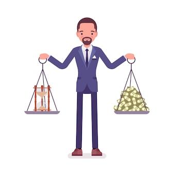 Bom equilíbrio de tempo e dinheiro para o empresário