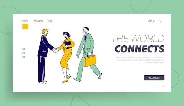 Bom negócio, modelo de página inicial de viagens de negócios.