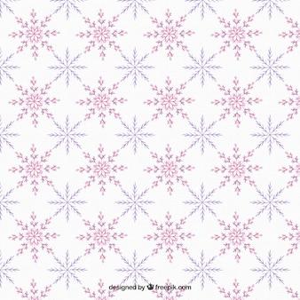 Bom padrão de flocos de neve roxos