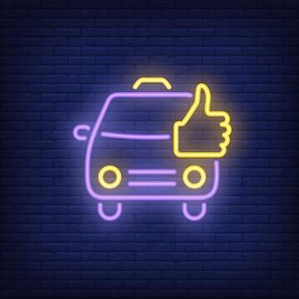 Bom sinal de néon de táxi