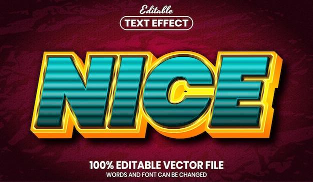 Bom texto, efeito de texto editável de estilo de fonte