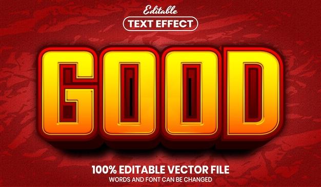 Bom texto, efeito de texto editável
