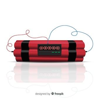 Bomba de tempo realista com dinamite