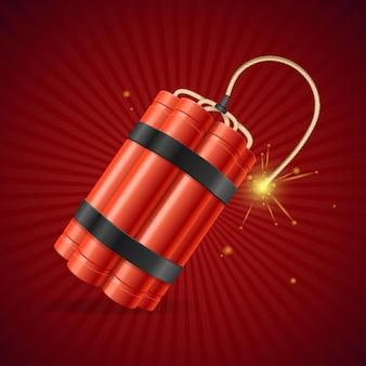 Bomba detonar dinamite