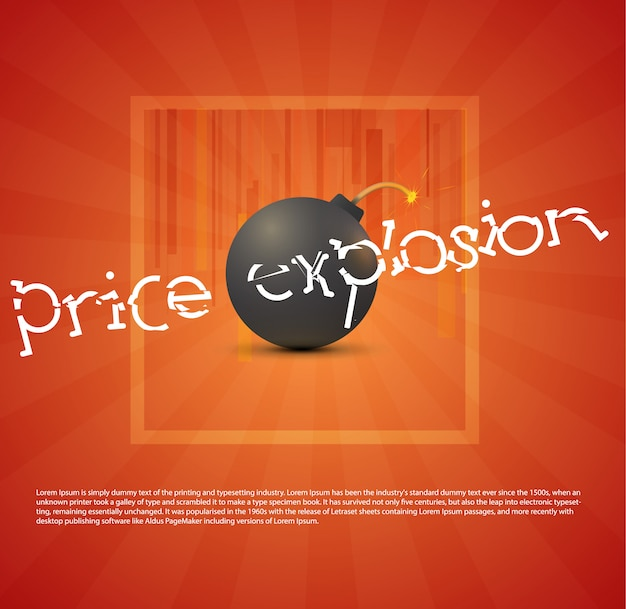 Bomba negra com explosão de preços