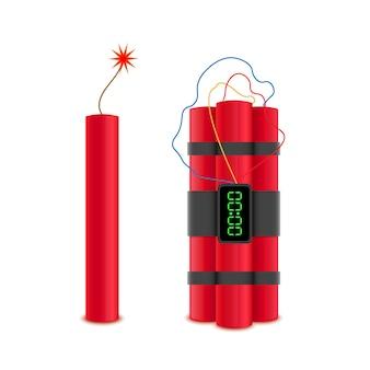 Bombas de dinamite com vetor
