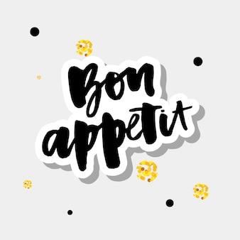 Bon appetit 2 caligrafia de letras