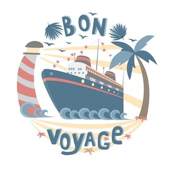 Bon voyage cartão postal