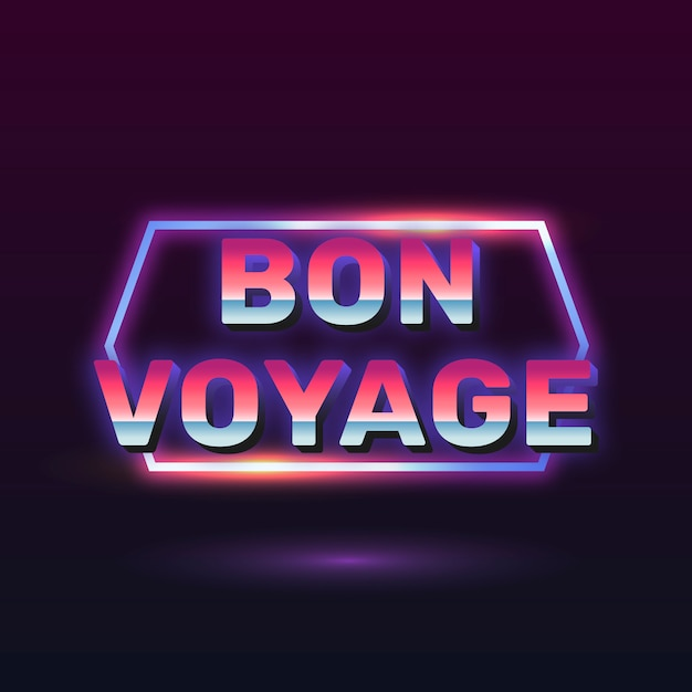 Bon voyage sinal de néon