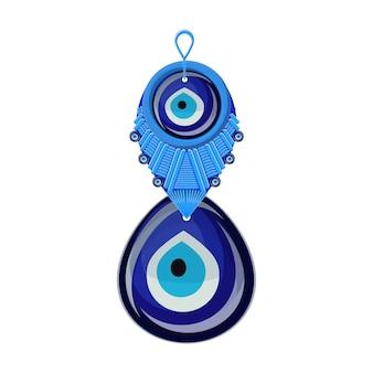 Boncuk de amuleto de vidro tradicional turco