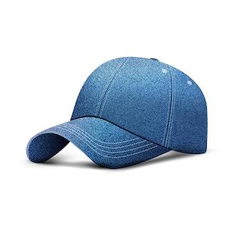Boné de beisebol jeans, chapéu boné uniforme, estilo 3d realista