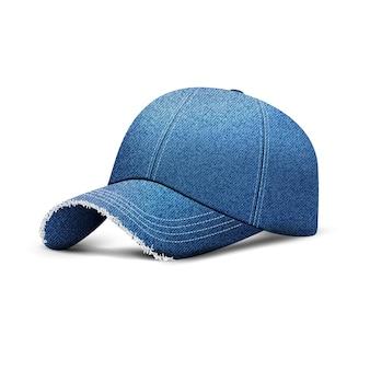 Boné de beisebol jeans com sombra, chapéu boné uniforme, estilo 3d realista